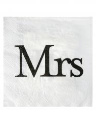 20 tovaglioli di carta bianchi Mrs