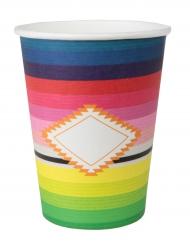 10 bicchieri in cartone multicolor Messico