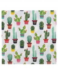 20 tovaglioli di carta cactus Messico