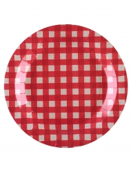 10 piatti in cartone quadretti tradizione 23 cm