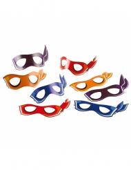 8 mascherine in cartone Tartarughe Ninja™