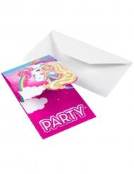 8 inviti di compleanno Barbie Dreamtopia™