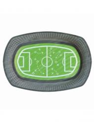 6 vassoi in cartone stadio e campo di calcio