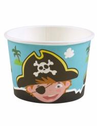 8 coppette gelato tema pirati