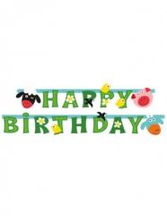 Ghirlanda in cartone Happy Birthday allegra fattoria