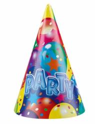 6 cappellini per festa palloncini party