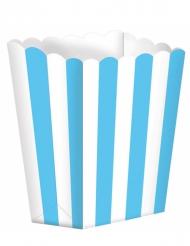 5 scatole pop corn celesti e bianche