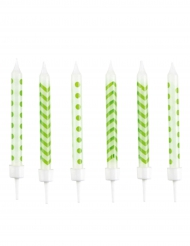 10 candeline di compleanno verdi e bianche