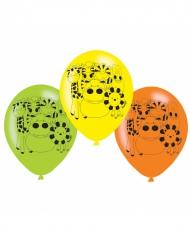 6 palloncini in lattice colorati animali della giungla