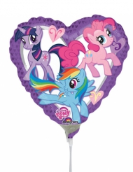 Mini palloncino alluminio cuore My little pony™