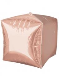 Palloncino alluminio cubo oro rosa