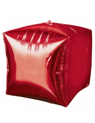 Palloncino in alluminio cubo rosso
