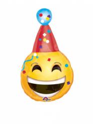 Mini palloncino alluminio emoticon con cappellino