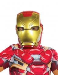 Mezza maschera in plastica di Iron Man™ per bambino