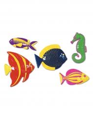 5 pesci tropicali in plastica
