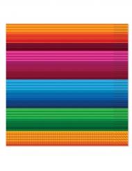 16 tovaglioli di carta a righe stile messicano
