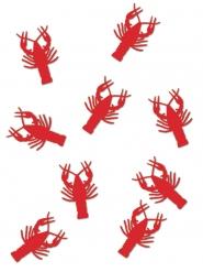 Coriandoli da tavola aragoste rosse