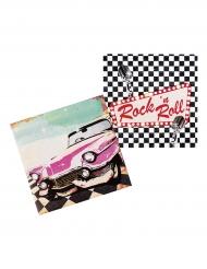 12 tovaglioli di carta Rock'n Roll