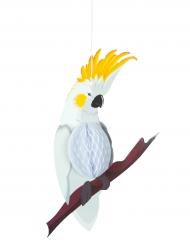 Sospensione in carta alveolata pappagallo bianco