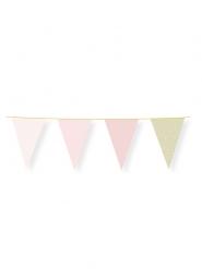 Ghirlanda bandierine rosa pastello e oro con brillantini