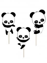 10 decorazioni per torta baby panda