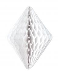 Sospensione in carta alveolata rombo bianca