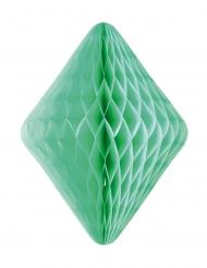 Sospensione in carta alveolata rombo verde acqua