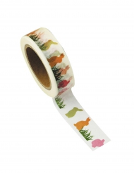 Washi tape bianco conigli multicolor