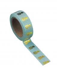 Washi tape color menta ananas oro