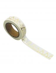 Washi tape bianco triangoli oro