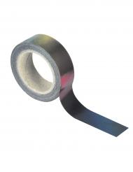 Washi tape nero iridescente