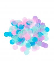 Coriandoli rotondi di carta rosa blu e viola