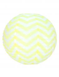 Lanterna giapponese bianca a zig zag gialli