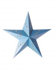 Lanterna a stella blu ghiaccio 30 cm
