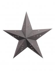 Lanterna a stella grigia 30 cm