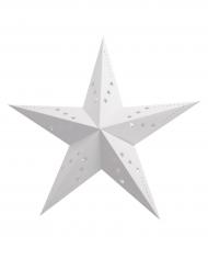 Lanterna a stella bianca 30 cm