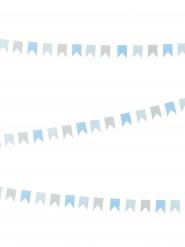 Mini ghirlanda con bandierine blu e grige
