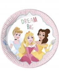 8 piatti in cartone a motivi Principesse Disney™ 23 cm