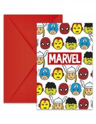 6 inviti per festa colorati con buste Avengers™