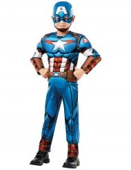 Travestimento deluxe da Capitan America™ cartone per bambino