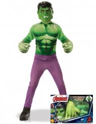 Cofanetto classico da Hulk™ con guanti giganti per bambino