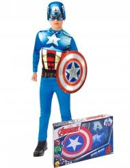 Cofanetto classico da Capitan America™ con scudo per bambino