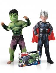 Cofanetto 2 costumi classici Hulk™ e Thor™ bambino