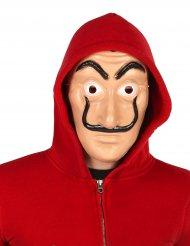 Maschera da ladro con baffi neri per adulto