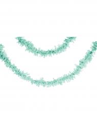 Ghirlanda di carta color menta 7 m