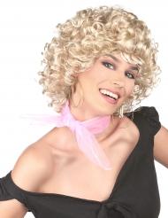 Parrucca bionda anni 50 riccia per donna