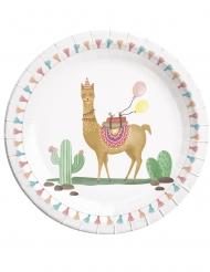 8 piatti in cartone Lama Party 23 cm