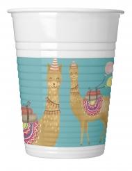 8 bicchieri di plastica Lama Party