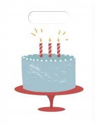 6 sacchetti torta buon compleanno