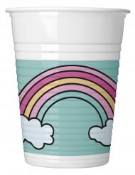 8 bicchieri in plastica baby unicorno